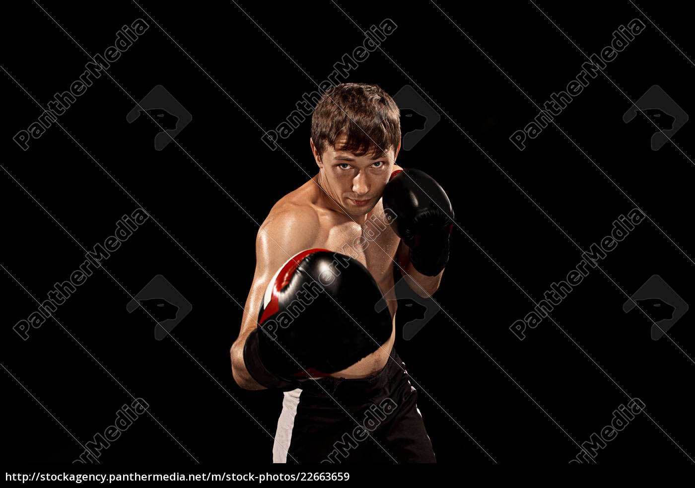 male, boxer, boxing, in, punching, bag - 22663659