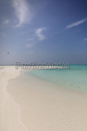 tranquil tropical ocean beach under sunny