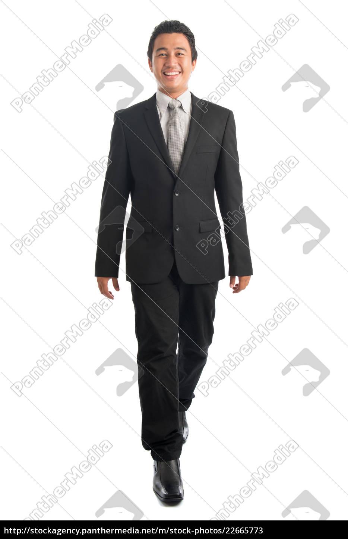 full, body, asian, businesspeople, walking - 22665773