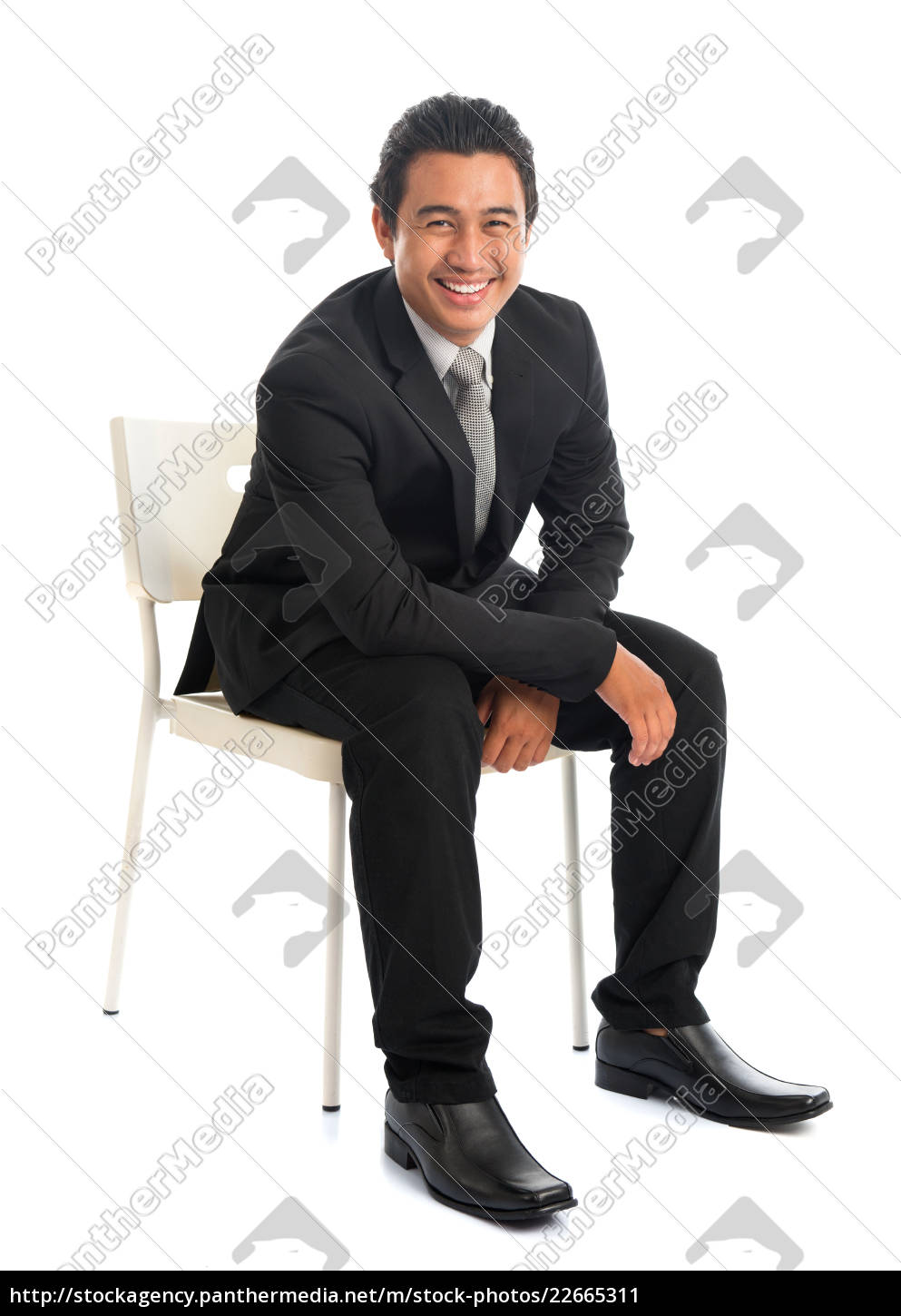 seated, southeast, asian, businessman - 22665311