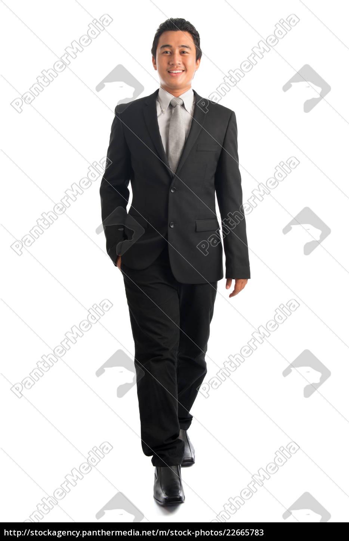 smart, southeast, asian, businessman, walking - 22665783