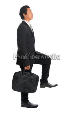 southeast, asian, businessman, climbing, stairs - 22665327