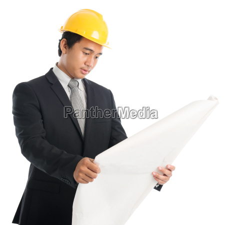 asian, guy, with, safety, helmet, and - 22666119