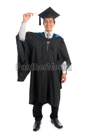 full, length, university, student, graduation - 22666069