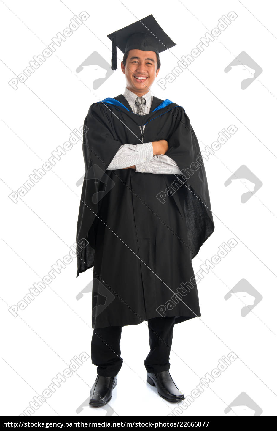 full, length, university, student, graduation - 22666077
