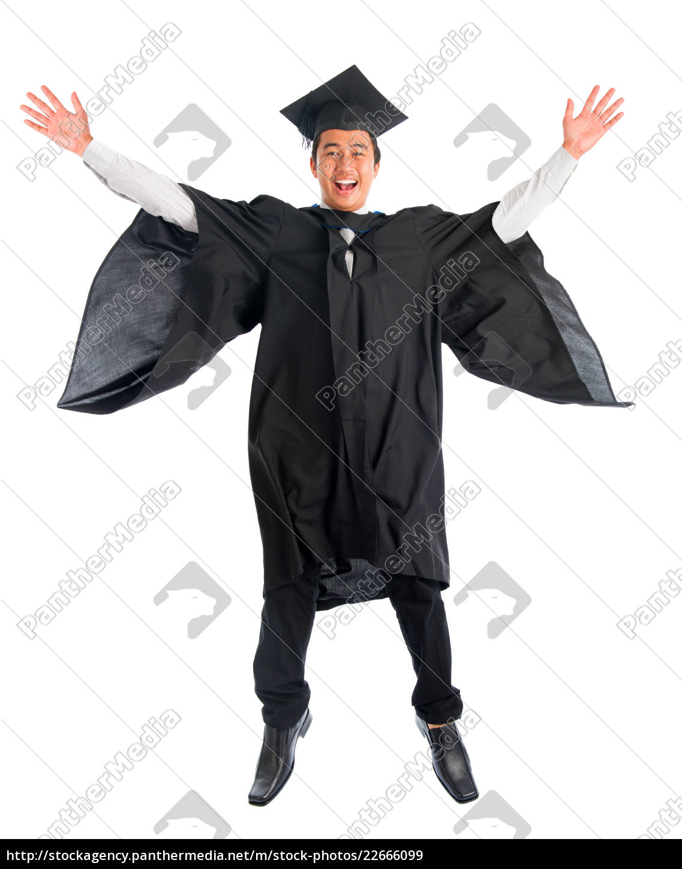 graduate, university, student, jumping, high - 22666099