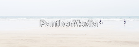 letterbox format shot of beach with