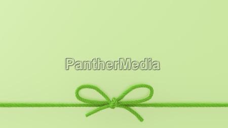 green woolen bow 3d rendering