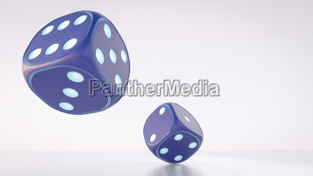 two dices 3d rendering