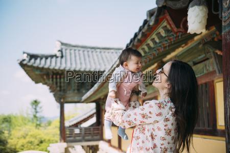 south korea gyeongju woman traveling with
