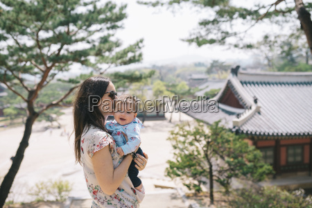south korea seoul mother and baby