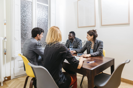 young business people having a meeting