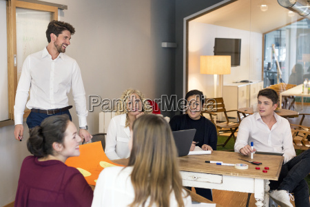 business people attending a workshop in