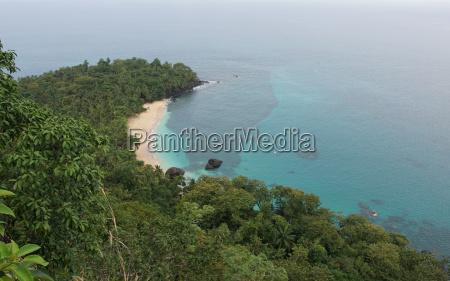 banana beach on principe island sao