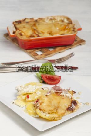 potato gratin on a plate