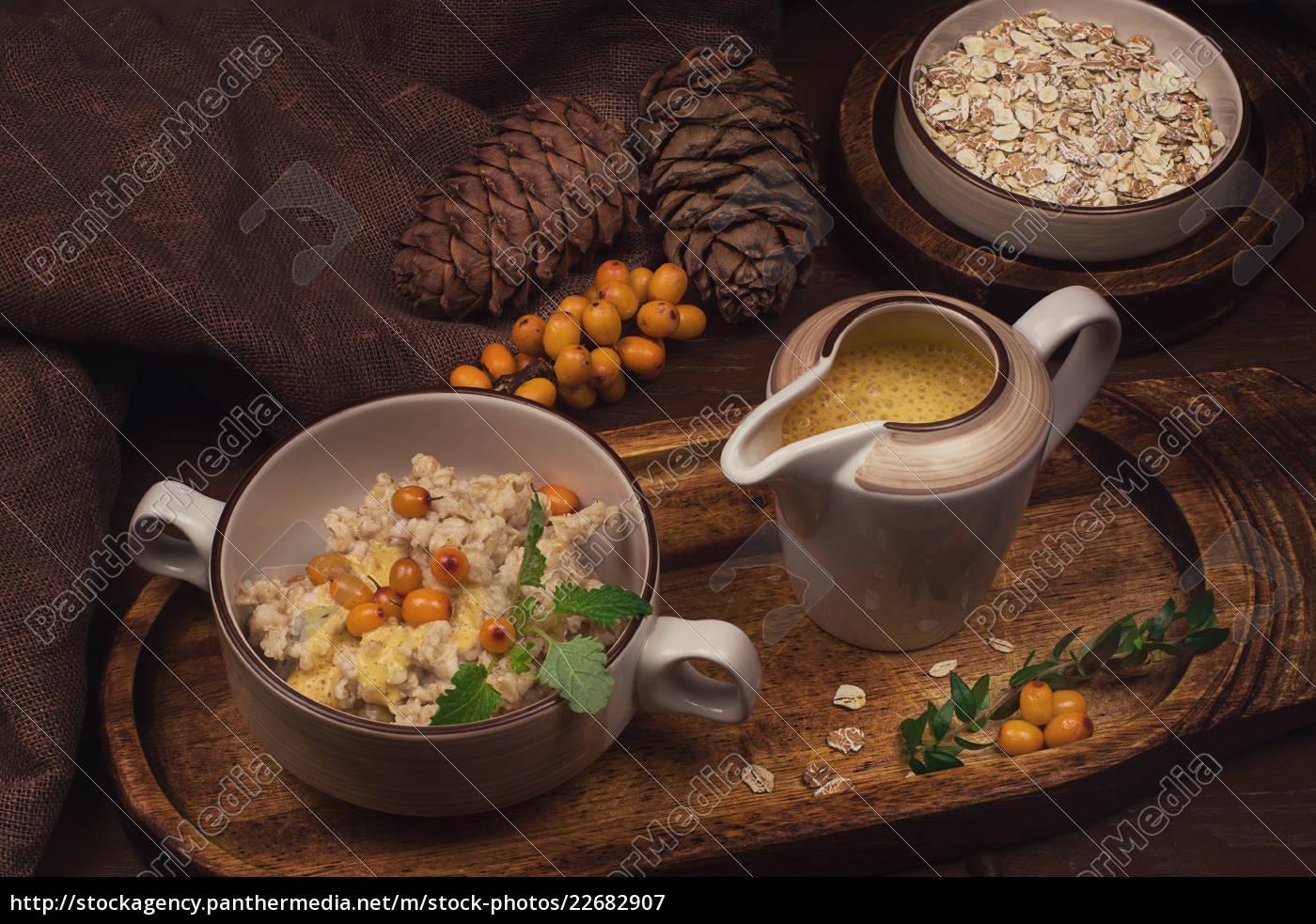 oatmeal, with, sea, buckthorn - 22682907