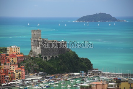 the fortress of lerici coast of