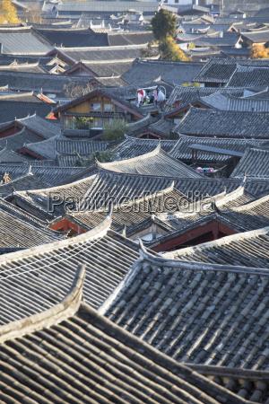 view of lijiang unesco world heritage