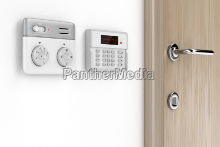 thermostat, and, alarm, controls - 22685789