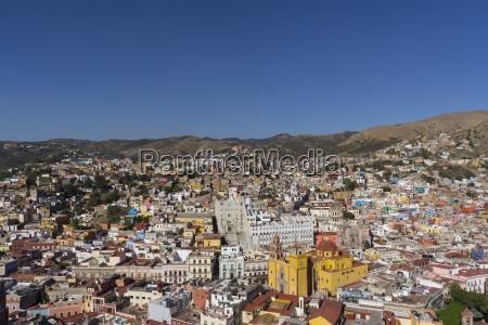 town view from funicular guanajuato unesco