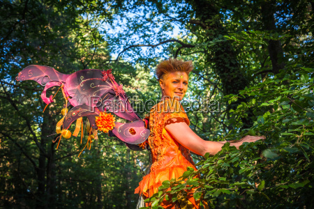 showman with butterfly wing