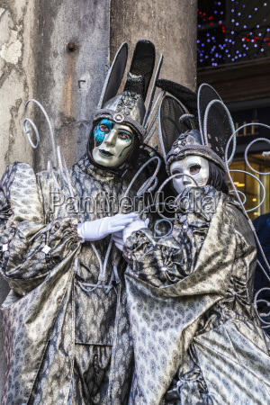 colourful masks and costumes of the