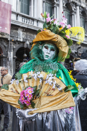 colourful mask and costume of the