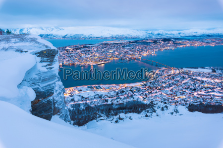 view of the city of tromso