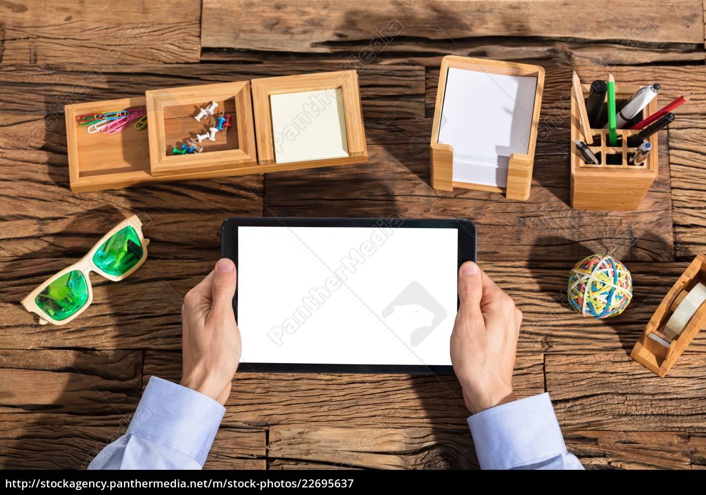 businessperson, using, digital, tablet - 22695637