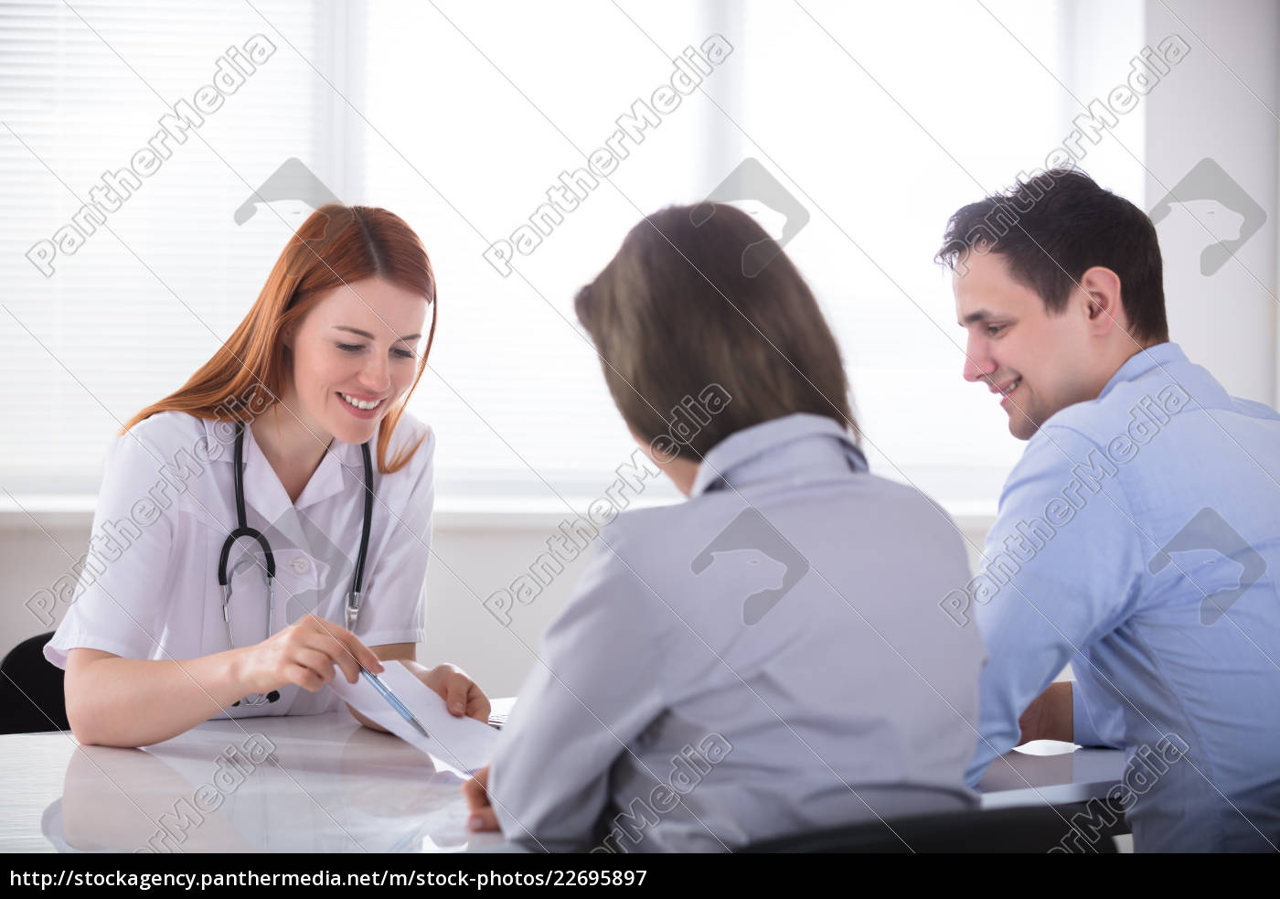 doctor, giving, prescription, to, the, patient - 22695897