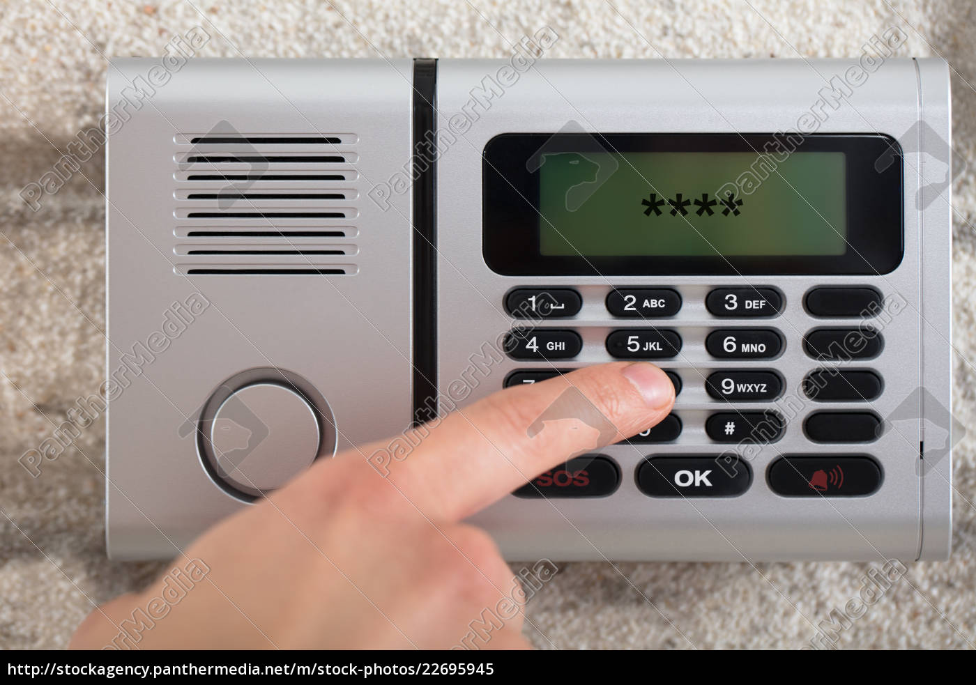 human, hand, entering, security, system, code - 22695945