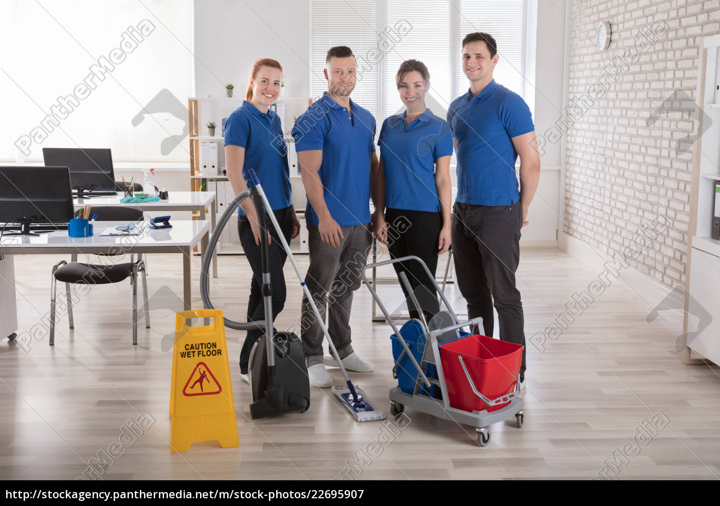 janitors, with, cleaning, equipments, in, the - 22695907