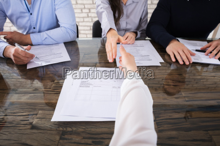 shaking, hand, with, corporate, recruitment, officers - 22695571