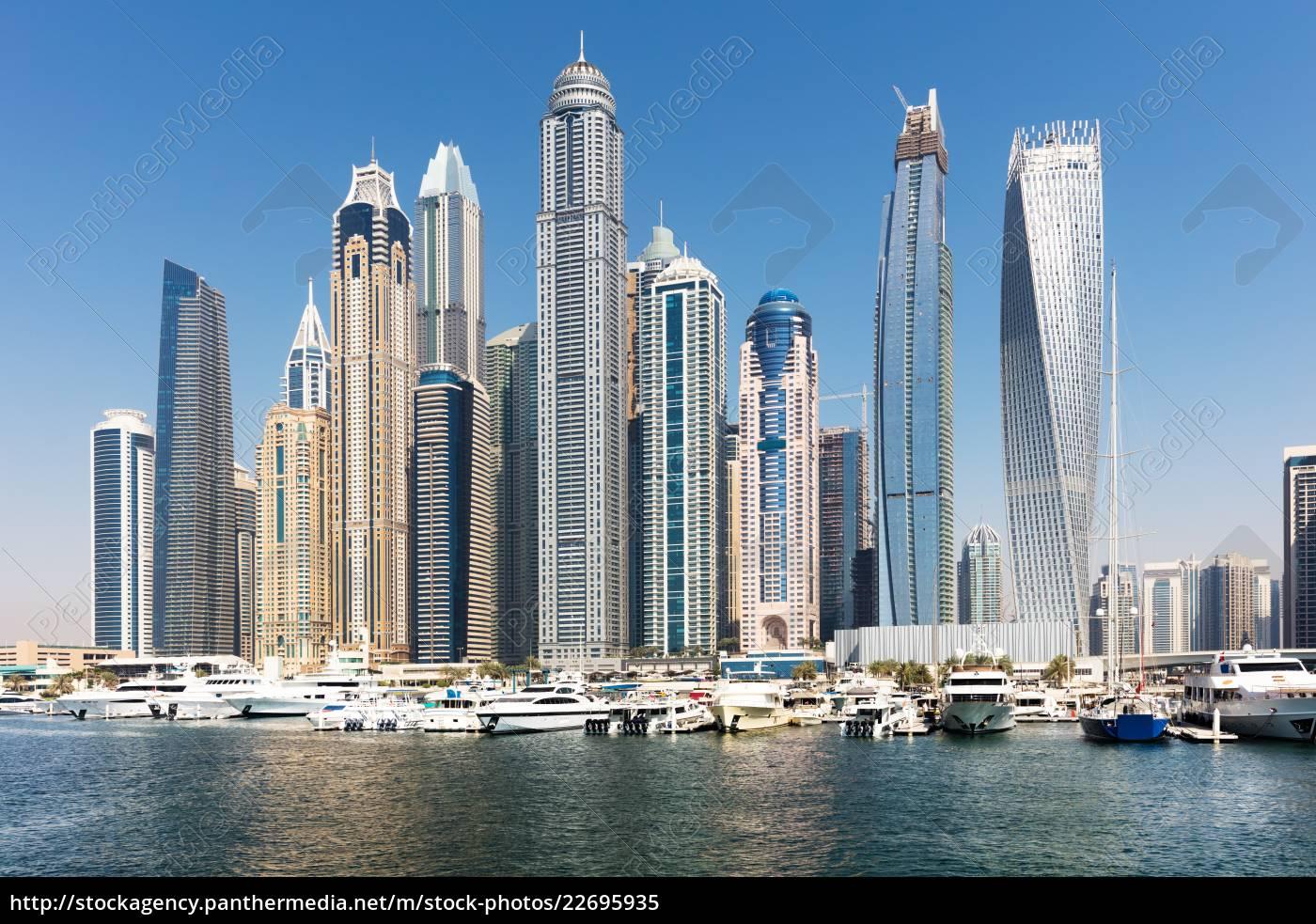 skyscrapers, in, dubai, marina - 22695935