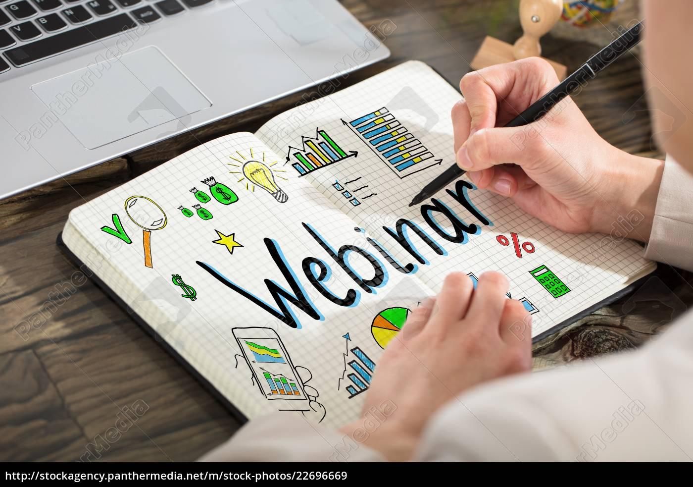 business, person, drawing, webinar, chart - 22696669