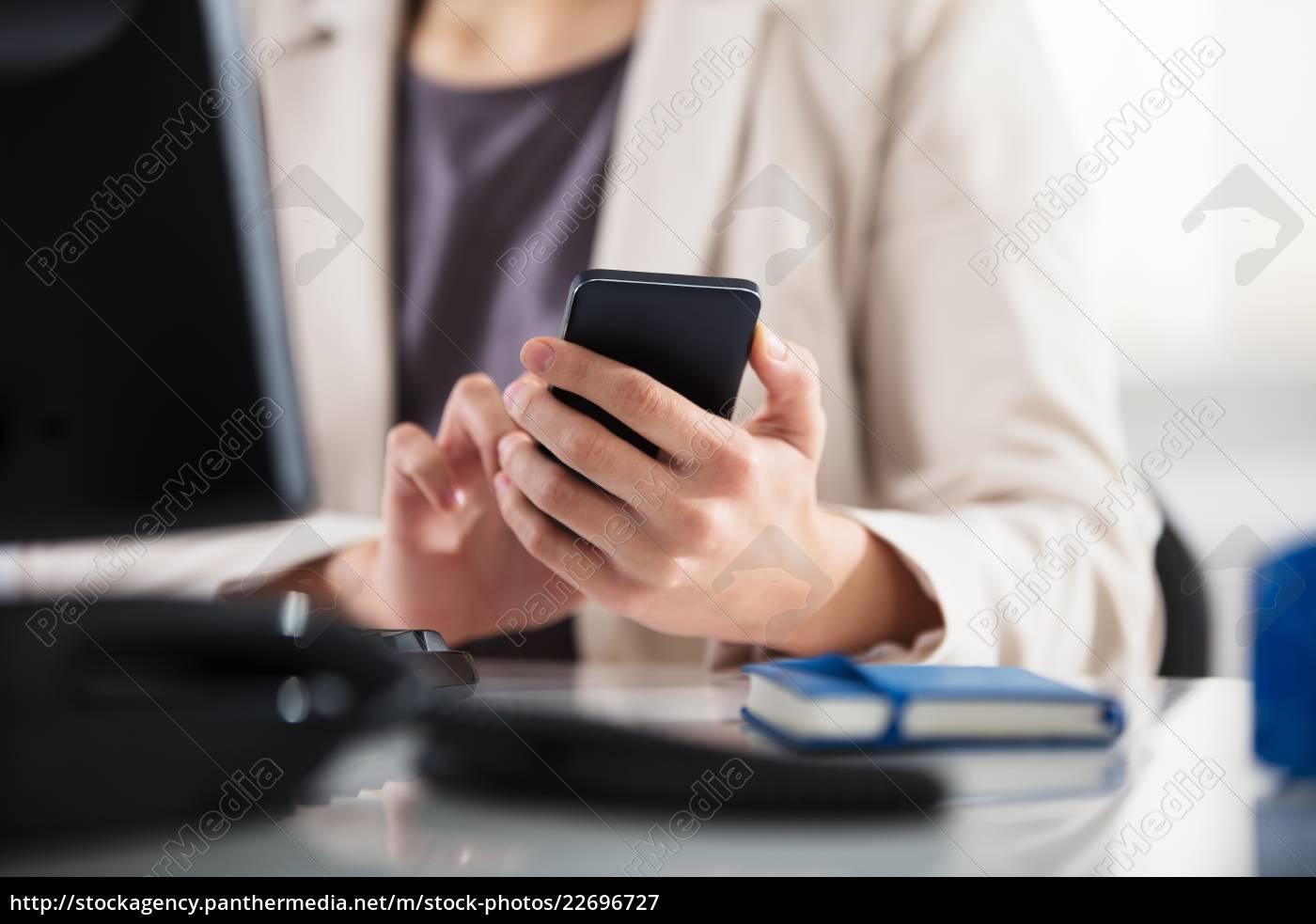 businesswoman, using, smart, phone - 22696727