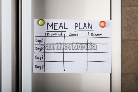 daily, meal, plan, paper, attached, with - 22696969