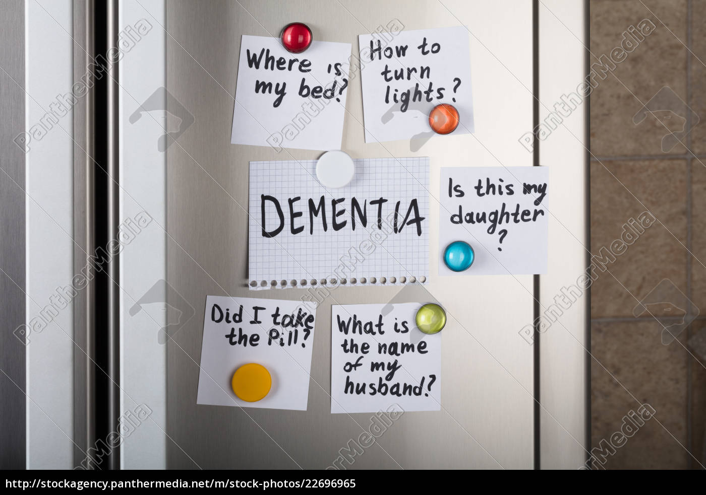 dementia, notes, attached, to, refrigerator - 22696965