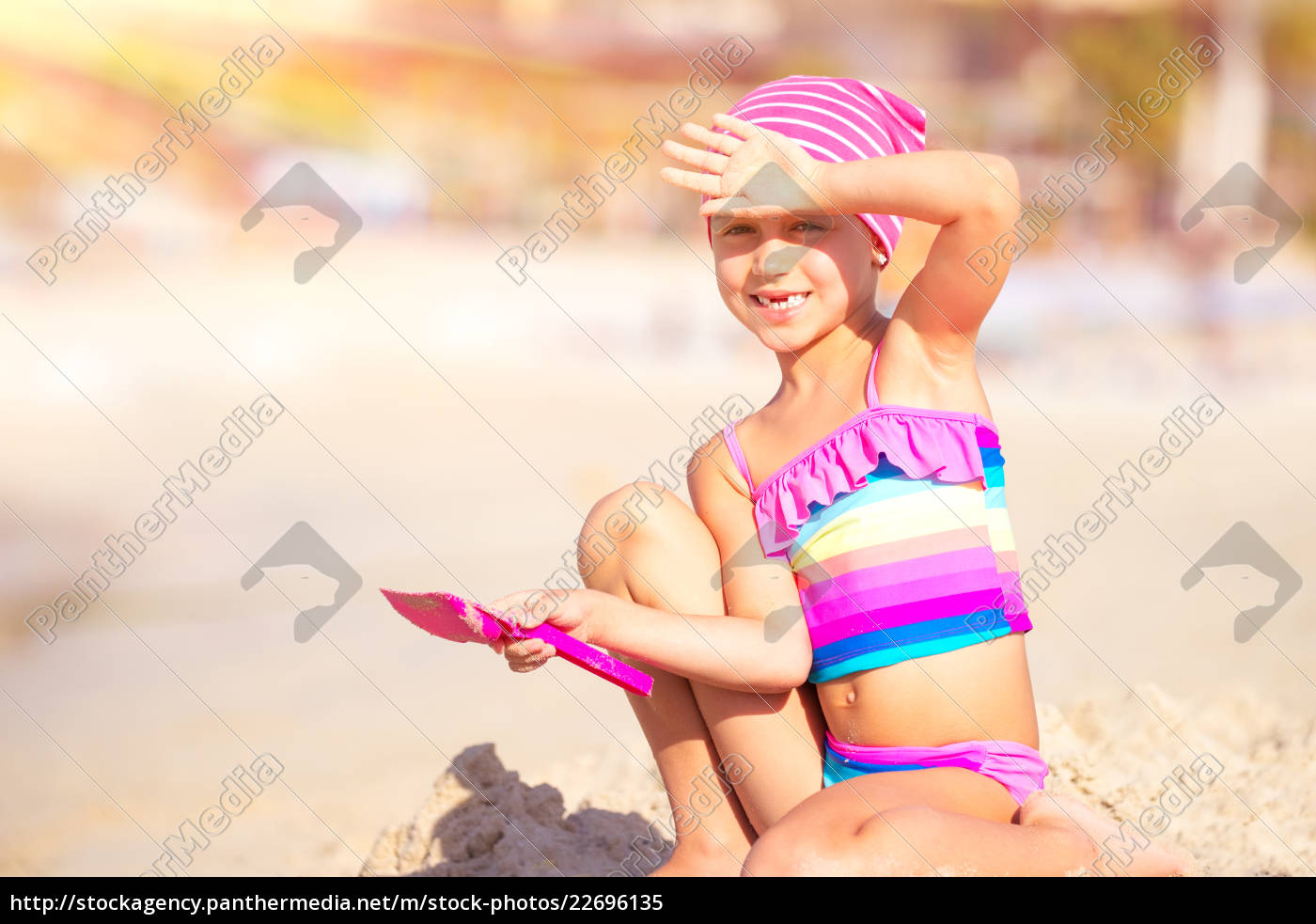 happy, little, girl, playing, on, the - 22696135