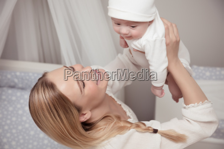 happy, mother, with, her, baby - 22696125