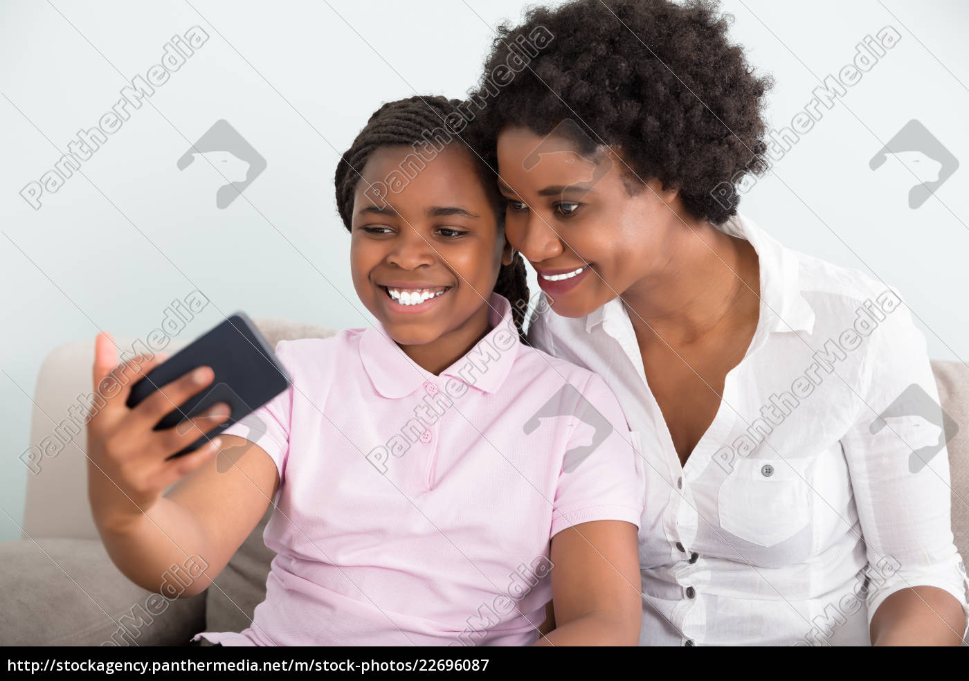 mother, and, daughter, taking, selfie - 22696087