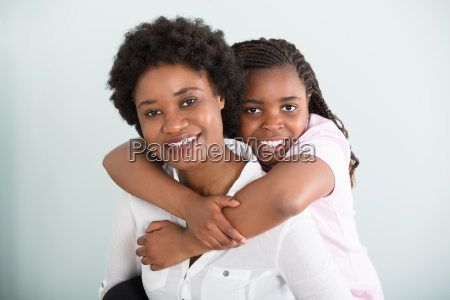 portrait, of, happy, mother, and, daughter - 22696107