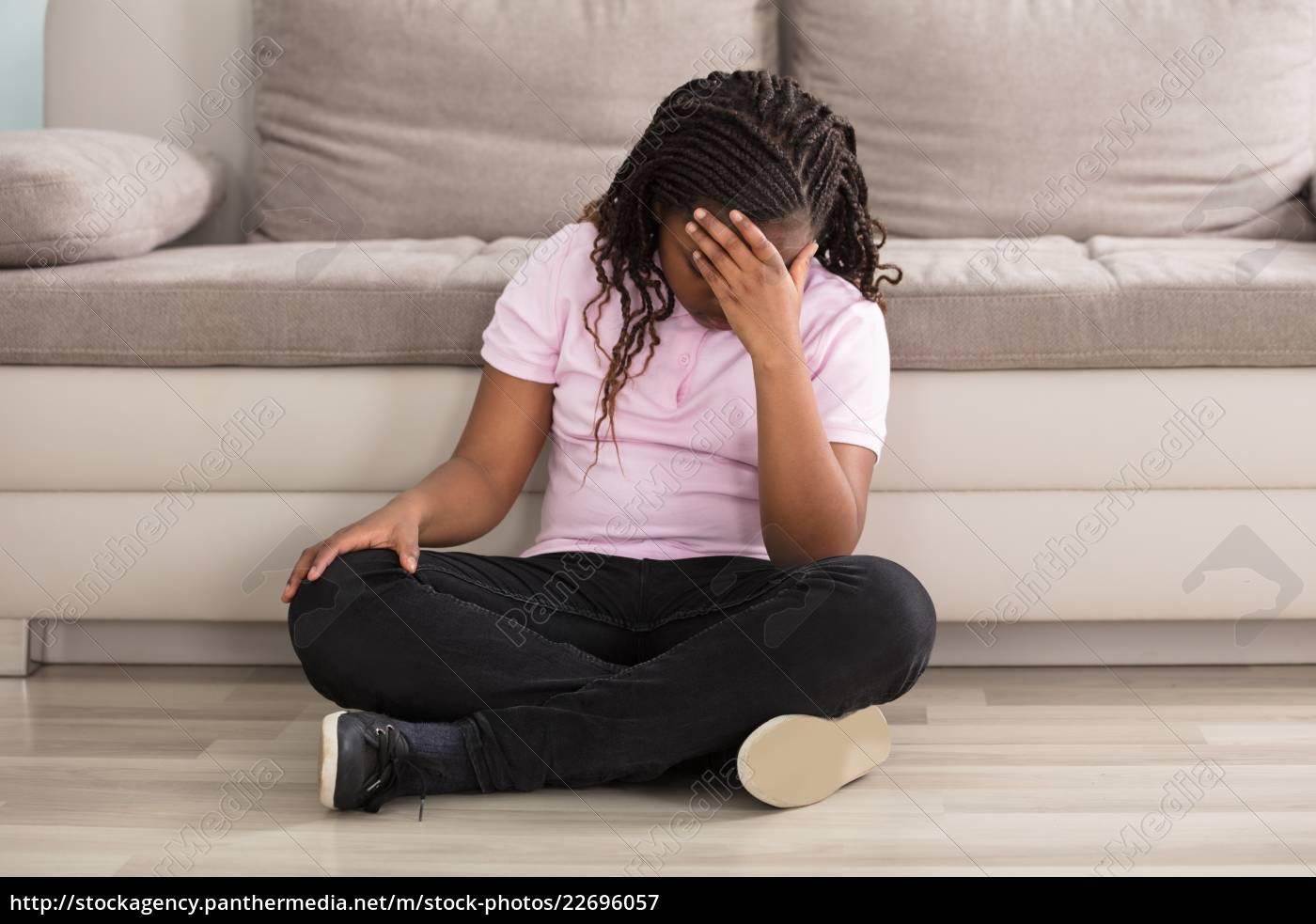 sad, girl, having, headache - 22696057
