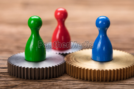 closeup, of, colorful, pawn, figurines, on - 22697045