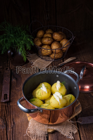 fresh, boiled, young, potatoes, with, butter - 22697259