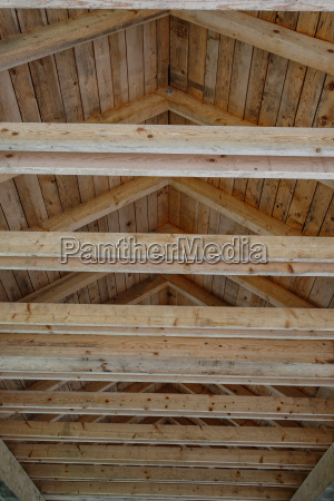 wooden frame and roof