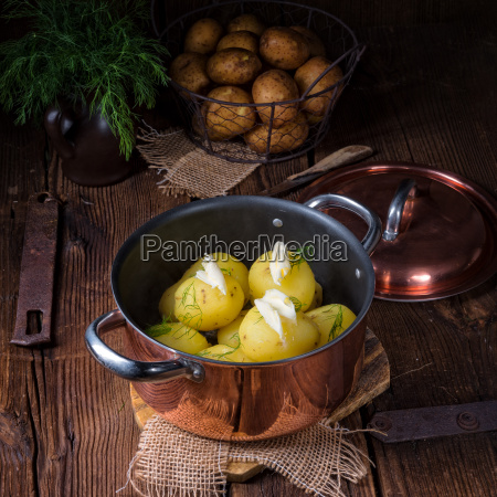 fresh, boiled, young, potatoes, with, butter - 22699485