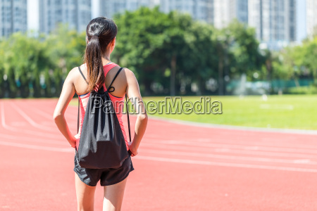 back, view, of, sport, woman - 22700591