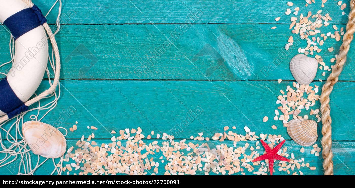beach, utensils, on, wooden, background, - - 22700091