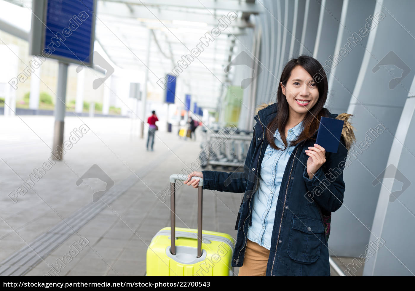 woman, go, travel, with, passport, and - 22700543